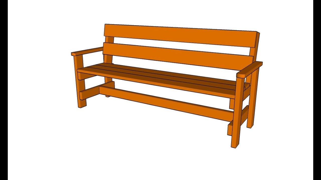 How To Build A Garden Bench Youtube