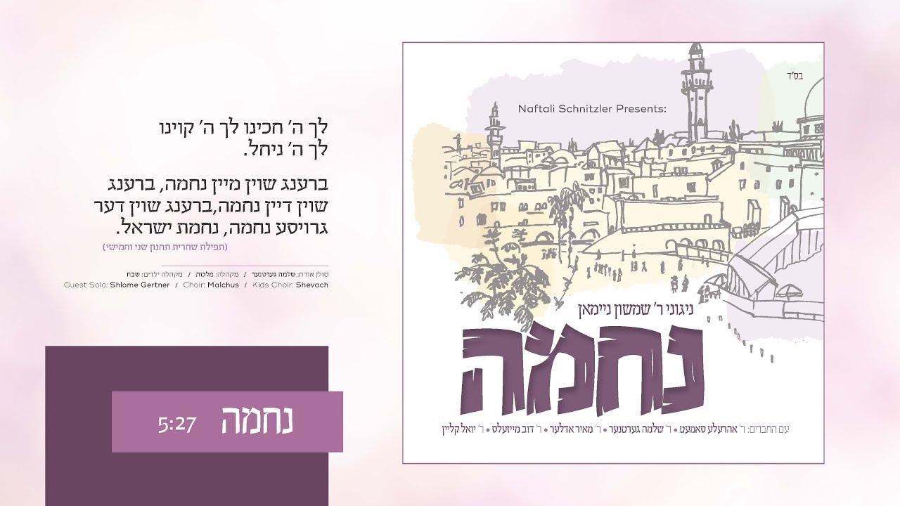 ר' שמשון ניימאן & שלוימי גרטנר - נחמה | Nechuma - R' Shimshon Neiman & Shloime Gertner