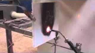 Fire Proof Transportable Housing: 60min Fire Test of saspodTM Wall.wmv