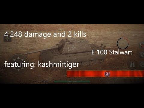 WoW Blitz E100 Stalwart at Port Bay with 4'248 damage and 2 kills