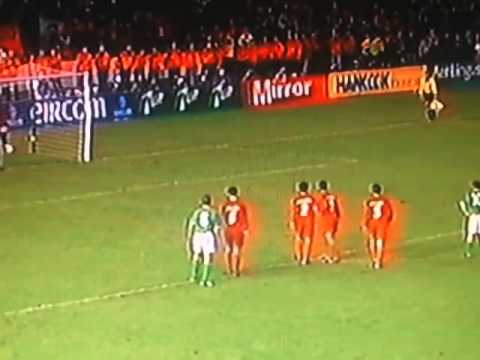 Shay Given saves v Iran 2001