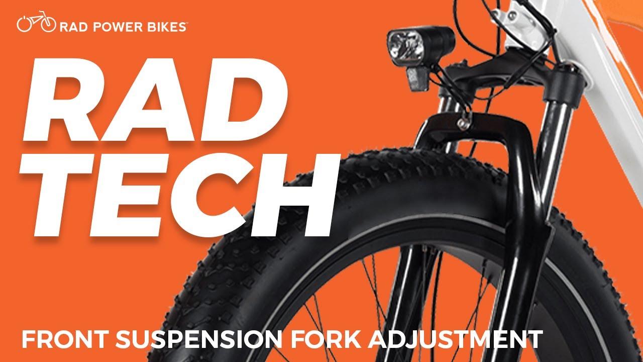 Adjusting Your Suspension Fork Rad Tech Rad Power Bikes