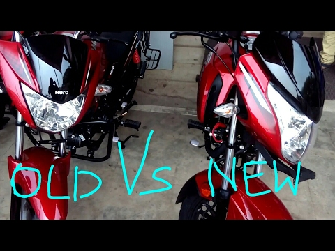 Hero Glamour 2017 vs 2016 model comparison |dimensions |engine |physical changes |handling
