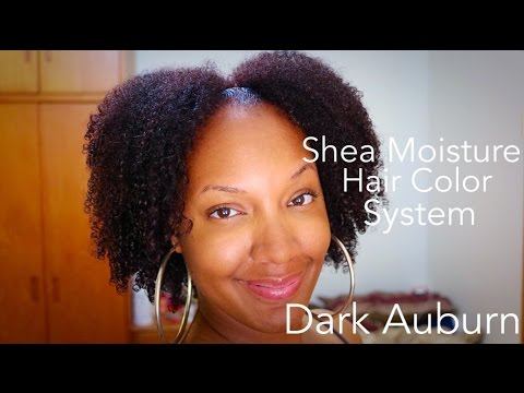 Shea Moisture Hair Color System Dark Auburn Youtube