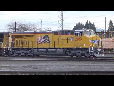 A Couple Days Railfanning Eugene, OR 1-12/1-15-17 - UP 8444, Tier 4 Credit Unit, BNSF and More!
