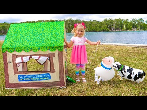 Old Macdonald had a farm Nursery Rhyme song for kids by Nastya