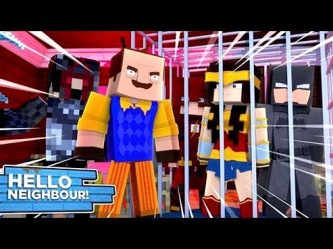 Minecraft Hello Neighbour - THE JUSTICE LEAGUE HAVE BEEN CAPTURED!!!