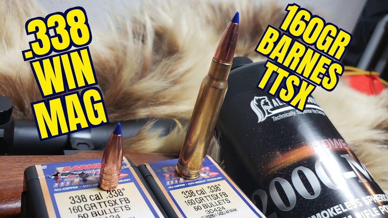 .338 Winchester Magnum 160gr Barnes TTSX