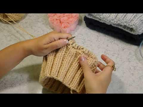 Как связать правильно шапку спицами