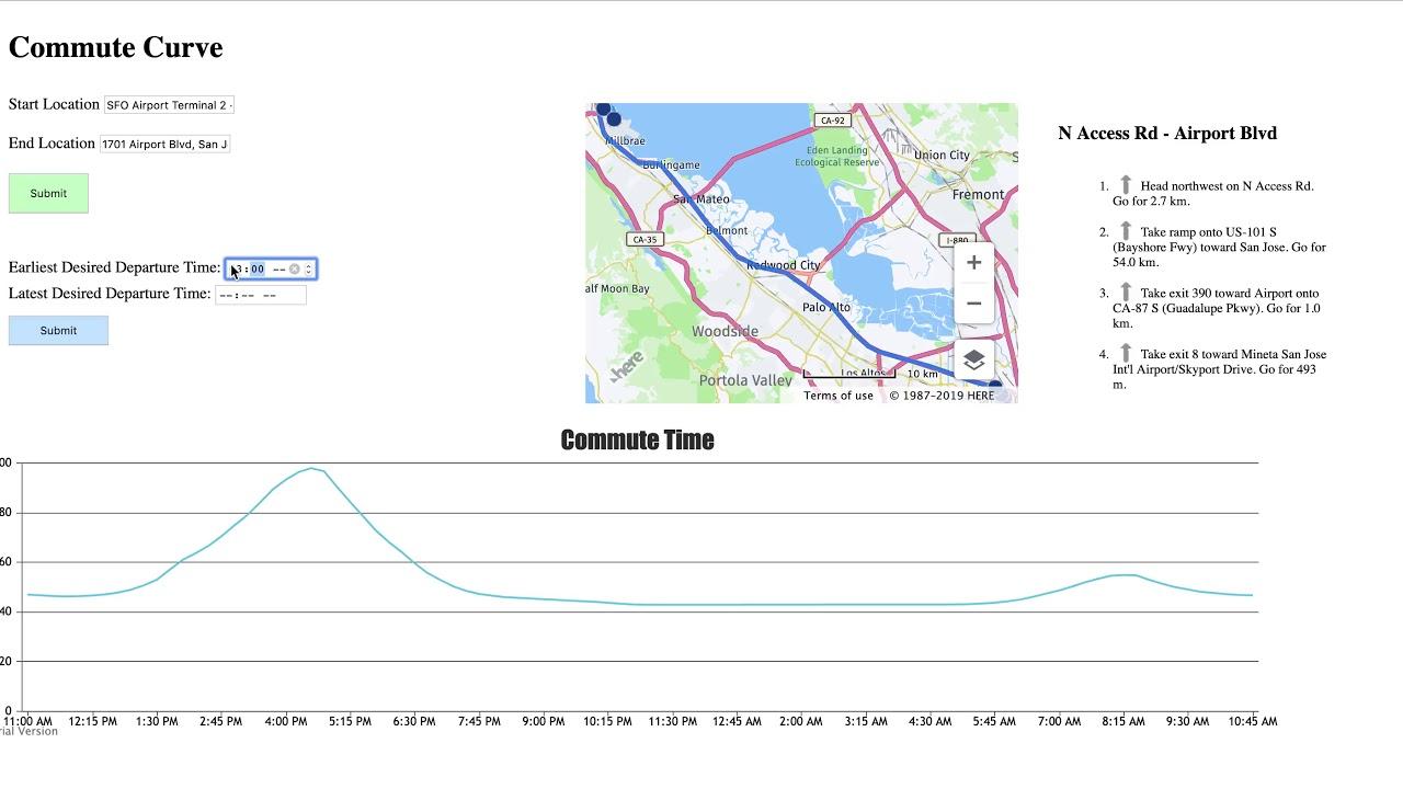 Commute Curve | Devpost