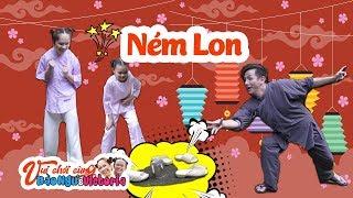 Bé Bào Ngư và chị Victoria  - Cùng chơi trò Tạt Lon với chú Đình Toàn nè cả nhà ơi ..