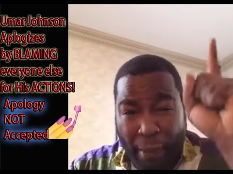 "Umar Johnson ""APOLOGIZES"" then sends youtubers emails demanding that they take down his rant video"