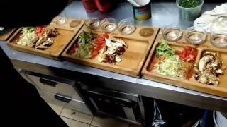 Шаверма деревянный посуды