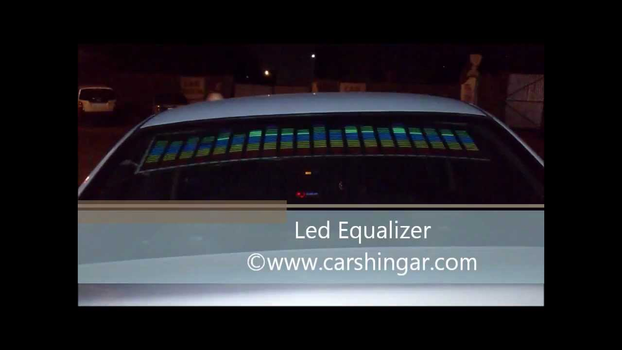 How to install the equalizer on the rear window of the car