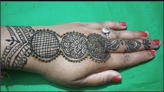 Very Pretty Jewelry Mehndi Design | Easy Mehndi Design for Back Hands by laxmi mehndi art
