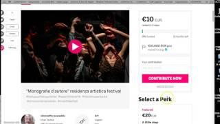 tutorial raccolta fondi indiegogo per giovani artisti indipendenti Monografie d