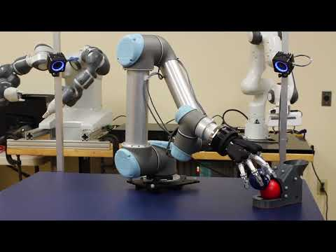 Actin for Motion Control of a Schunk SVH Gripper and a UR5