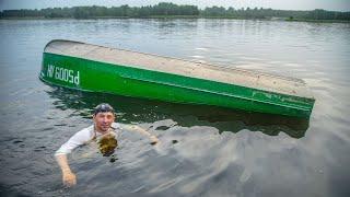 Утопили КАЗАНКУ Краш тест средств спасения на воде Рыбалка в стиле Снасти Здрасьте
