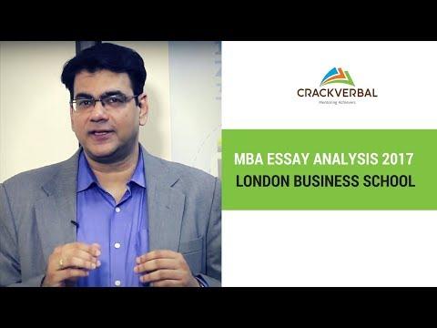 London Business School Essay Analysis 2017 - 2018