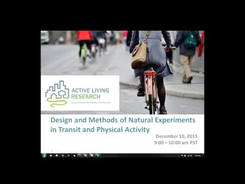 Design and Methods of Natural Experiments in Transit and Physical Activity