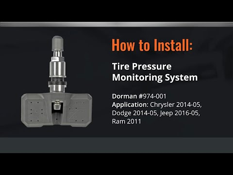 Dodge & Chrysler Tire Pressure Monitor Sensor Relearn Video by Dorman Products