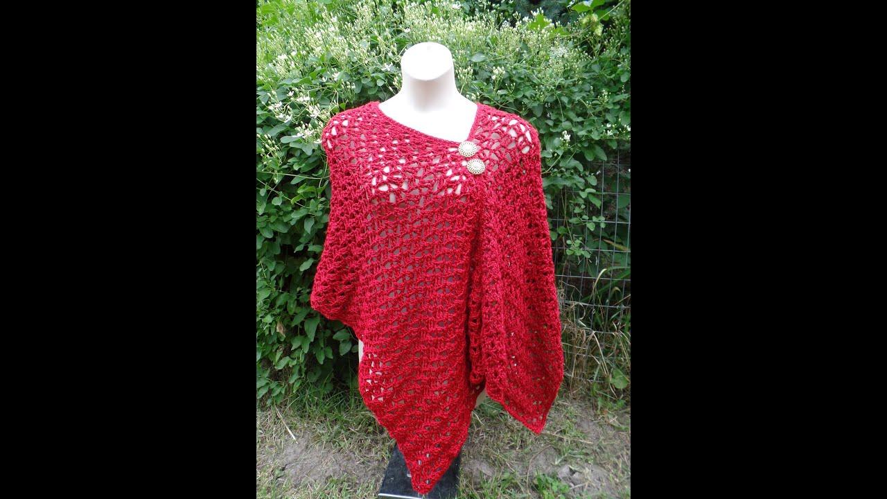 CROCHET How to #Crochet Womens Easy Poncho Shawl #TUTORIAL ...