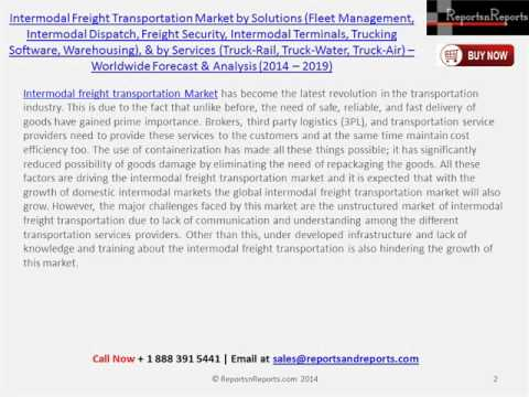 Forecast of Intermodal Freight Transportation Market to 2019