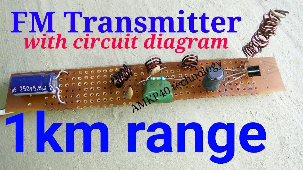 Make 1km Range And 2km Fm Transmitter With Circuit Diagram