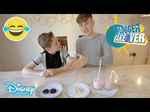 Vlogger Takeover | Freaky Food Challenge ft. Adam & Callum  | Disney Channel UK