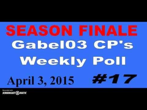 Weekly Poll #17 SEASON FINALE