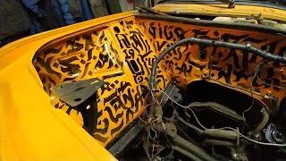 Тыква. Каллиграфия под капотом авто. Покраска подкапотки Жигулей