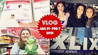 Honeybee Vlog Cam: Super Bowl, Target w. Mama Bee, Planner Update
