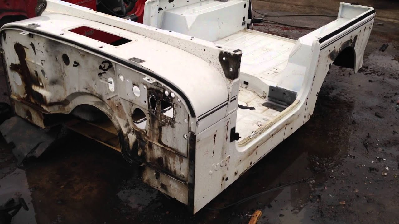 White Jeep Wrangler >> 87-95 Jeep Wrangler YJ White Tub For Sale Top Side Renegade - YouTube
