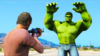 WHAT HAPPENS IF YOU ROB THE INCREDIBLE HULK?! (GTA 5 Mods Gameplay)