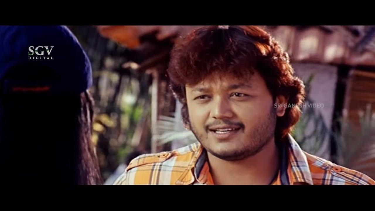 Rekha Tells Her Love Story To Ganesh | Super Scenes | Hudugata Kannada Movie Part-3