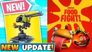 *NEW TURRET* NEW FOOD FIGHT LTM! SCRIM MATCHES! NEW SKINS! (Fortnite Battle Royale)