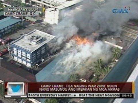 24 Oras: Camp Crame, tila naging war zone noon nang masunog ang imbakan ng mga armas