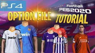 [TTB] PES 2020 Tutorial - How to Install an Option File on PS4 - PES Universe Option File V1