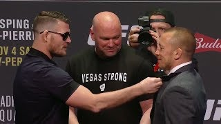 UFC 217: Bisping vs St-Pierre Press Conference Las Vegas Face Offs