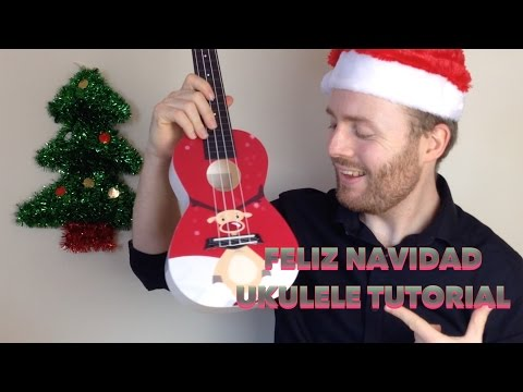 Feliz Navidad - Christmas Ukulele Tutorial (EASY)