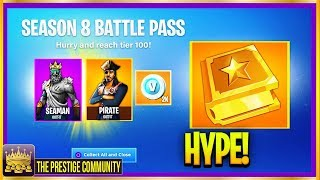 Fortnite - SEASON 8 BATTLEPASS! New Skins, Emotes, More! [ Leaks & Rumours] (Fortnite Season 8 News)