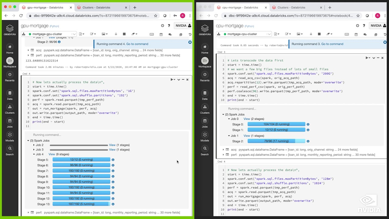 Spark 3 Demo: Comparing Performance of GPUs vs. CPUs