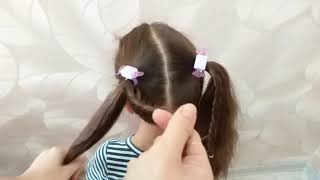 ???? Очень красивая прическа для девочек на каждый день, в школу, в садик ???? / Видео