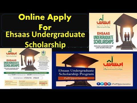 Online Apply For Ehsaas Undergraduate Scholarship 2019