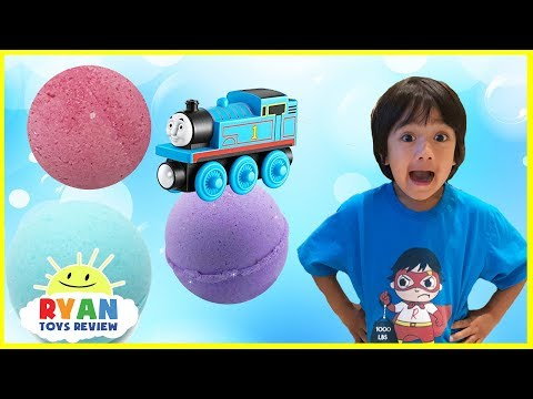 Thomas and Friends Bath Balls Japanese Surprise Toys Train Bubbles Ryan ToysReview