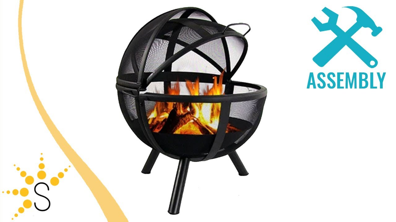 sunnydaze flaming ball fire pit