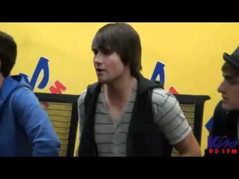 Big Time Rush performs Boyfriend live at the Kiss 95 1 FM studios   YouTube