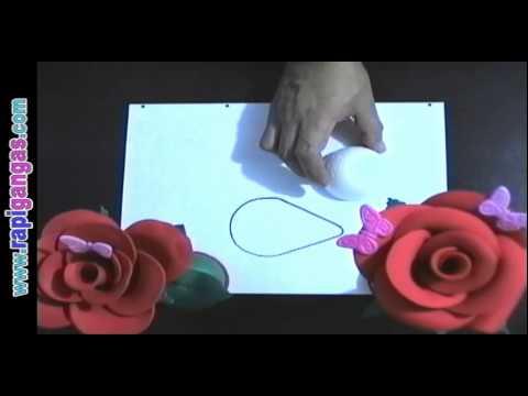 Moldes Y Patrones Para Rosas Y Flores En Foami Y Goma Eva Parte 1
