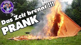 FEUER IM ZELT! PRANK auf dem Campingplatz | Es brennt! | FAMILY FUN