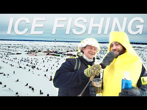 WORLDS LARGEST Ice Fishing Tournament! (funny Interviews)